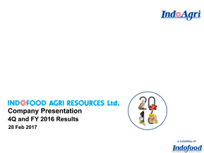 Company Presentation - 4Q and FY 2016 Results